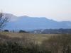 Vue sur les montagnes d'Ardèche depuis la terrasse et la cuisine le matin