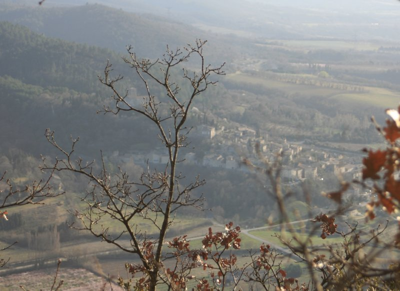 Vue sur Mirmande depuis le Mont Gier