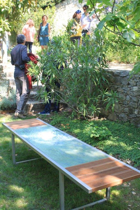 un des petits jardins publiques dans le village
