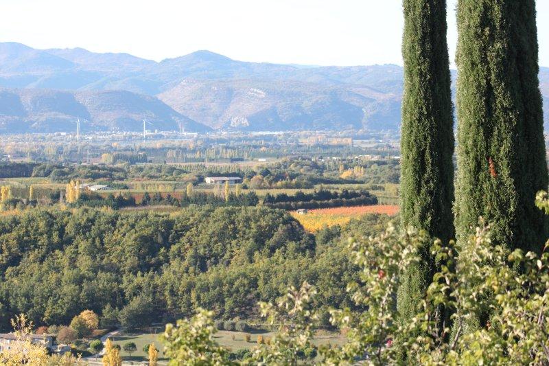 Vue sur l'Ardèche depuis le village